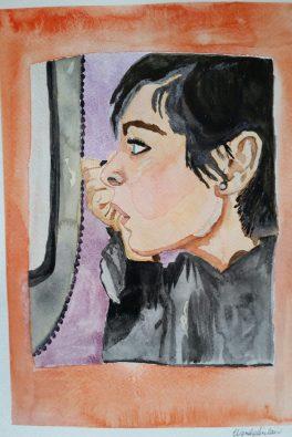 """Self-Portrait"". 11x15. July 2016."