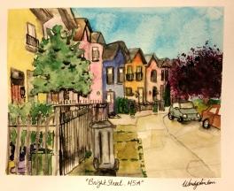 """""""Bright Street, M5A"""", 11x15. July 2016."""